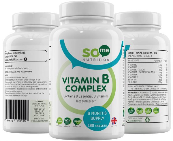 So Me Nutrition Vitamin B complex bottle montage