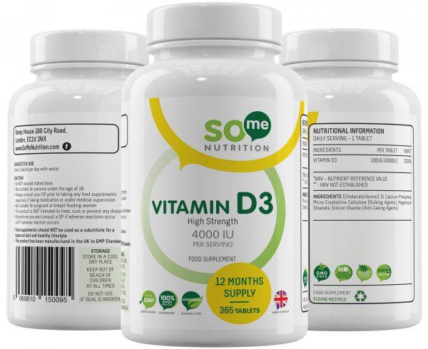 So Me Nutrition Vitamin D3 bottle montage