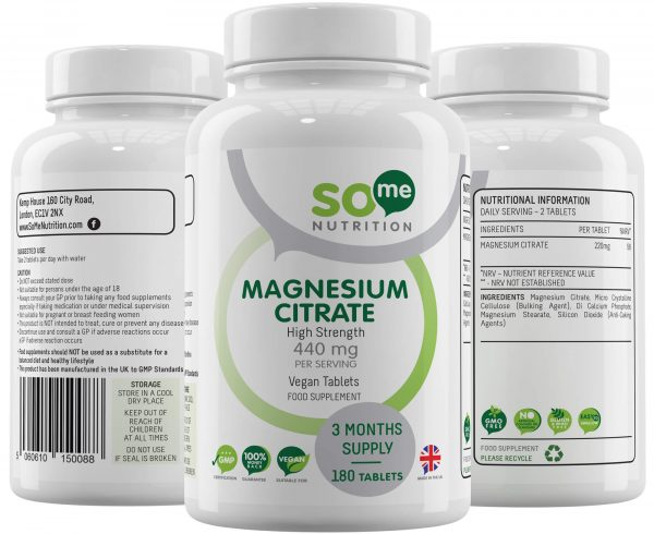 So Me Nutrition Magnesium Citrate Bottle Montage